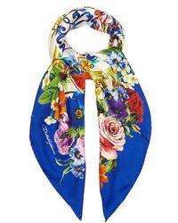 Dolce & Gabbana - Majolica-print Silk Scarf - Lyst