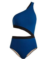 Zeus+Dione - Cythera Cut-out One-shoulder Contrast Swimsuit - Lyst