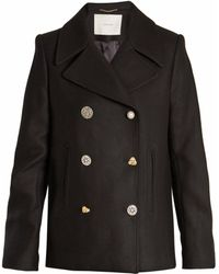 Adam Lippes | Double-breasted Wool-blend Pea Coat | Lyst
