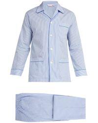 Derek Rose - James Striped Cotton Pyjama Set - Lyst