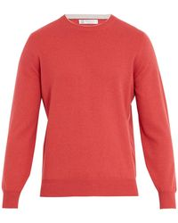 Brunello Cucinelli | Crew-neck Wool-blend Sweater | Lyst