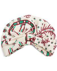 Valentino - Abstract-print Silk-twill Turban Hat - Lyst