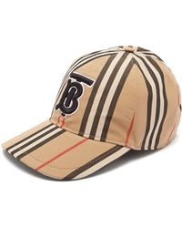 Burberry - Icon Stripe Cotton Baseball Cap - Lyst