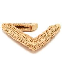 Cult Gaia - Jane Triangular Woven-straw Bangle - Lyst