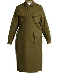 Toga - Wrap Front Cotton Coat - Lyst