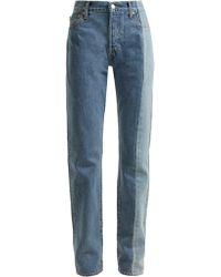 Vetements - X Levi's Reworked Straight Leg Jeans - Lyst