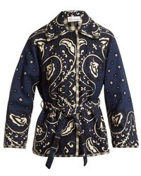 RED Valentino - Paisley-print Canvas Jacket - Lyst