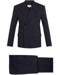 Maison Margiela - Double-breasted Striped Wool-blend Suit - Lyst
