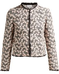 Giambattista Valli - Floral Embroidered Tweed Jacket - Lyst
