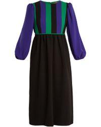 Duro Olowu - Balloon Sleeve Silk Blend Crepe Dress - Lyst