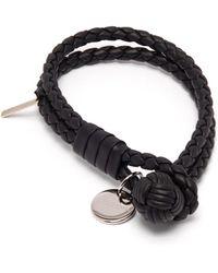 Bottega Veneta - Double Wrap Leather Bracelet - Lyst