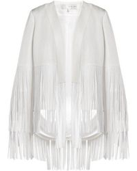 Clearance Ebay Cortado Fringed Crepe Jacket - White Galvan Sale For Nice wr2Mf