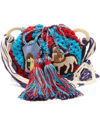 Peter Pilotto - Dinosaur-appliqué Crochet-cotton Shoulder Bag - Lyst