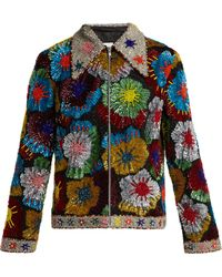 Ashish - Floral Bead And Sequin-embellished Cotton Jacket - Lyst
