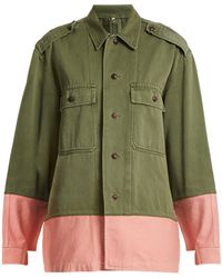 MYAR - Hungarian Contrast-colour Military Jacket - Lyst