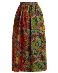 Duro Olowu - Floral-print Silk-gazar Skirt - Lyst