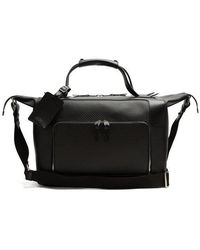 Smythson - Greenwich Lacquered-canvas Weekend Bag - Lyst