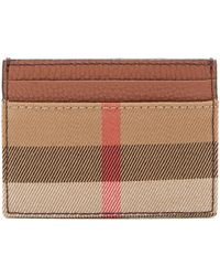 Burberry - House-check Grained-leather Cardholder - Lyst