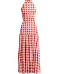 Sonia Rykiel | Halterneck Gingham Stretch-knit Dress | Lyst