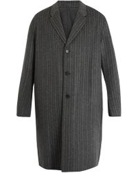 Acne | Chad Pinstriped Wool-cashmere Blend Coat | Lyst