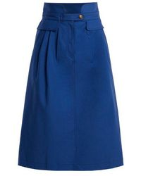 Sea - Kamille Stretch Cotton Skirt - Lyst