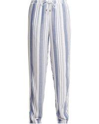 Melissa Odabash - Kelly Striped Wide Leg Trousers - Lyst