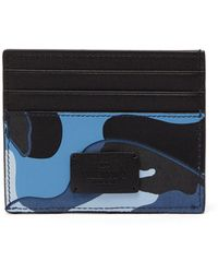 Valentino - Camouflage Print Leather Cardholder - Lyst
