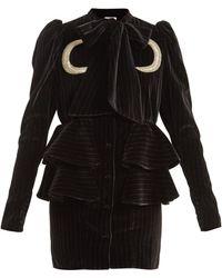 Attico   Luna Ruffled Mini Dress   Lyst