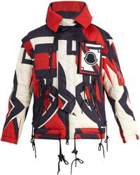 Moncler | Abstract-print Quilted Hooded Down Jacket | Lyst