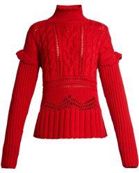 Altuzarra - Prelude Funnel-neck Cable-knit Jumper - Lyst
