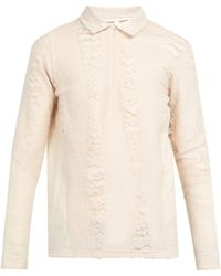 Cottweiler - Cave Merino Wool And Mohair Polo Sweater - Lyst