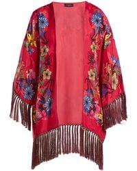 0e231e42e70eb Etro - Kesa Floral Print Satin Kimono - Lyst