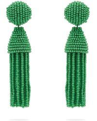 Oscar de la Renta - Beaded Tassel Drop Earrings - Lyst