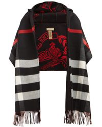 Burberry - St Helen Checked Wool And Cashmere Scarf - Lyst