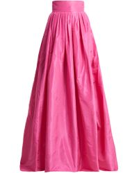 Carolina Herrera - High Rise Silk Taffeta Ball Gown Skirt - Lyst