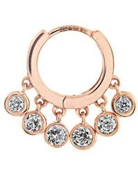Jacquie Aiche - Diamond & Rose-gold Earring - Lyst