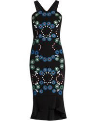 Peter Pilotto - Geometric Embroidered Cady Dress - Lyst