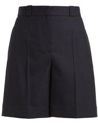 Burberry - - Pin Dot Tailored Wool Shorts - Womens - Blue - Lyst