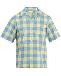 Prada - Point-collar Checked Cotton Bowling Shirt - Lyst