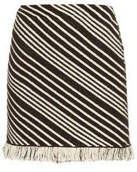 Sonia Rykiel - Diagonal-stripe Mini Skirt - Lyst