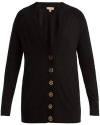 Burberry - Crest Button Cashmere Cardigan - Lyst