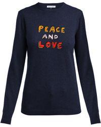 Bella Freud - Peace And Love Cashmere Blend Jumper - Lyst