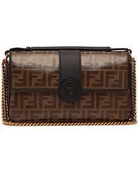 4b0df34b86 Lyst - Fendi 3baguette Leather Shoulder Bag in Black