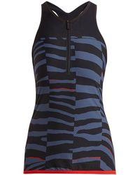 adidas By Stella McCartney - Train Miracle Tiger Stripe-print Tank Top - Lyst