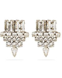 Saint Laurent - Crystal Arrow Clip-on Earrings - Lyst