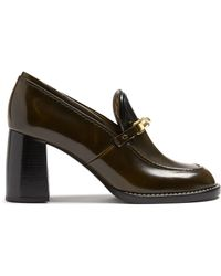 JOSEPH - Block-heel Leather Loafers - Lyst
