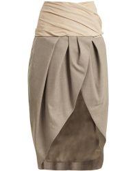 Jacquemus - Asymmetric Draped Wool Wrap Skirt - Lyst