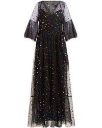 STAUD Townhouse Tulle Maxi Dress - Black