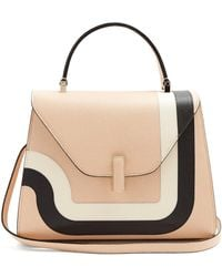 Valextra   Iside Medium Striped Grained-leather Bag   Lyst
