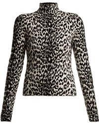 Givenchy - Animal Intarsia Wool Blend Top - Lyst